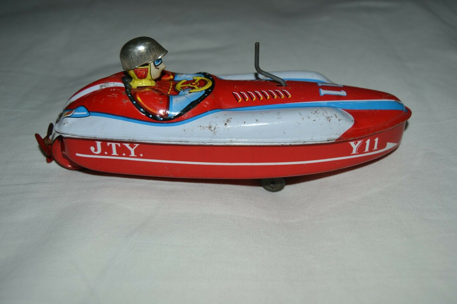 tin toy Yonezawa,  Barca a carica manuale anni 60-60s manual winding boat