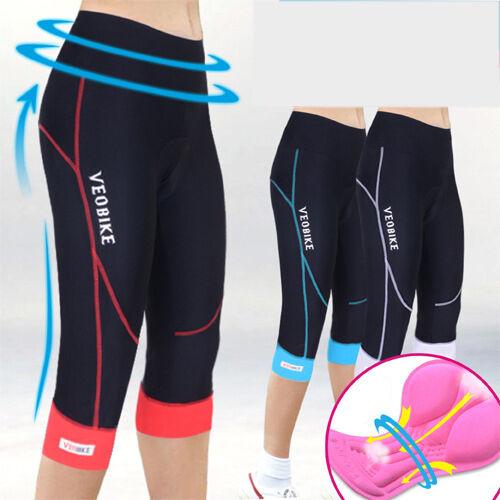 Cycling Women Ladies 3//4 Three Quarter Legging Shorts Padded Tights Capris Pants