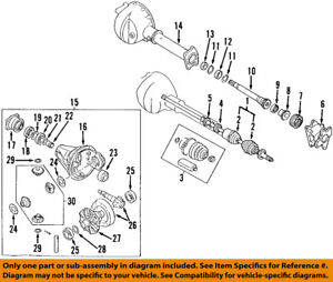 isuzu oem 88 02 trooper front differential pinion seal 8943185202 ebay rh ebay com