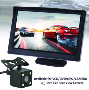 Car-Reversing-Camera-Rear-View-Kit-Night-Vision-4-3-034-LCD-Monitor