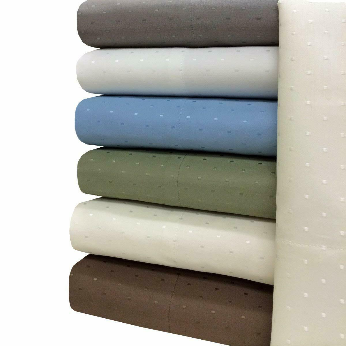 Luxury Cotton Blend Wrinkle Free Woven Dots Sheets 600 Thread Count Sheet Set