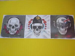 Wandbild totenkopf leinen 30x90 keilrahmen skull sch del bild picture wanddeko - Totenkopf wandbild ...