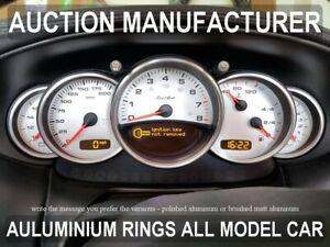 Porsche-996-911-Instrument-Cluster-Chrome-Rings-Gauge-Speedometer-Trim-5psc