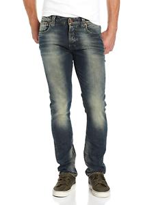 Nudie-Unisex-Damen-Herren-Slim-Fit-Stretch-Jeans-Hose-Grim-Tim-Worn-Crinkles