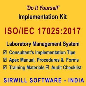 iso iec 17025 2017 lab documentation manual procedures forms