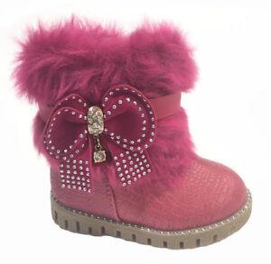 finest selection 6f6ac 8f570 Details zu Kinder Winter Stiefel Mädchen Baby Boots Shoes Stiefeletten  Strass warm 21-25