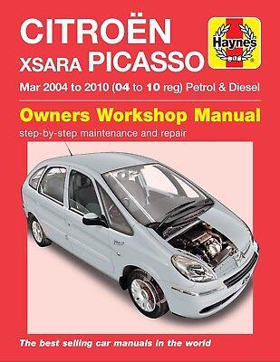 CITROEN XSARA PICASSO 2004-2010 Benzina Diesel Manuale Haynes 4784