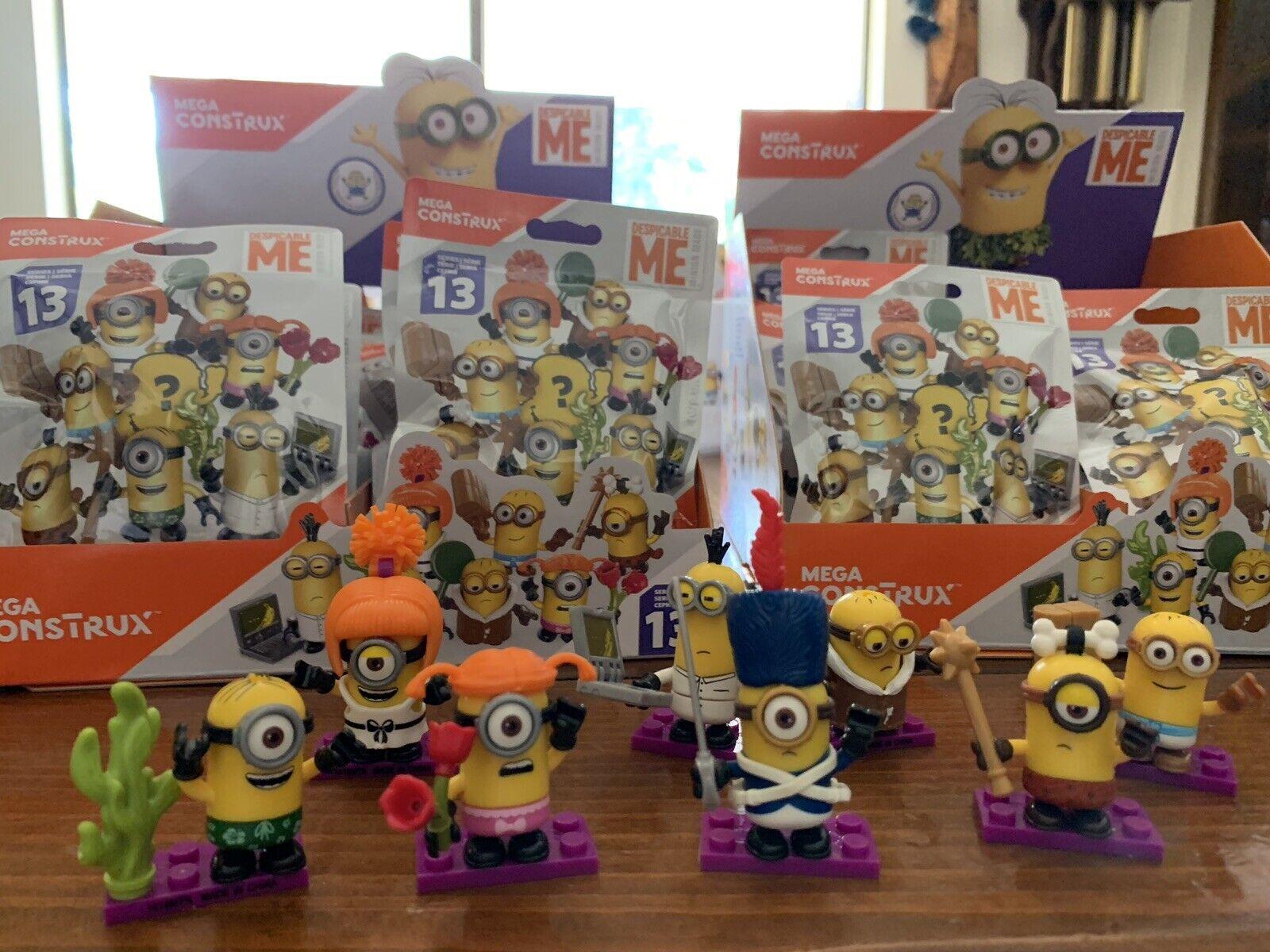 Despicable Me Minions Mega Construx Series 13 Very RARE 7 Unique Codes Minions.