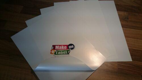 10 Sheets A4 SATIN White Self Adhesive INKJET LASER Printable PP Vinyl Sticker