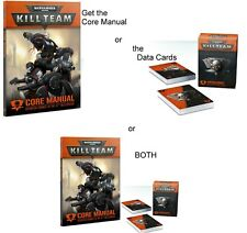 Warhammer 40,000 KILL TEAM CORE MANUAL and/or DATA CARDS Rules Supplements