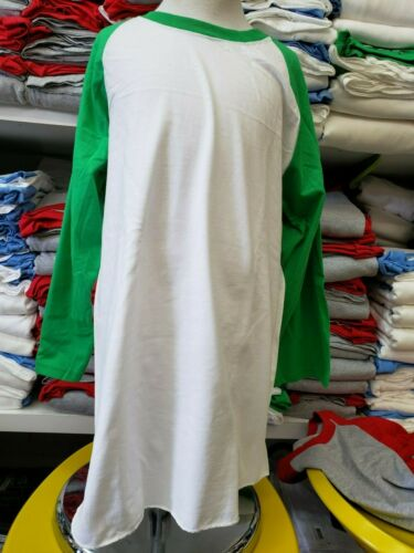 Youth Kids 3//4 Sleeve Raglan Tee Shirt S-XL 6-20yrs Fruit of the Loom Baseball