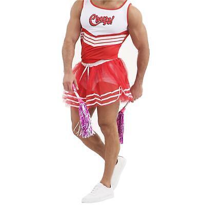 Men/'s Fancy Dress Male Cheerleader Novelty Fun Costume Stag Night Do Sport