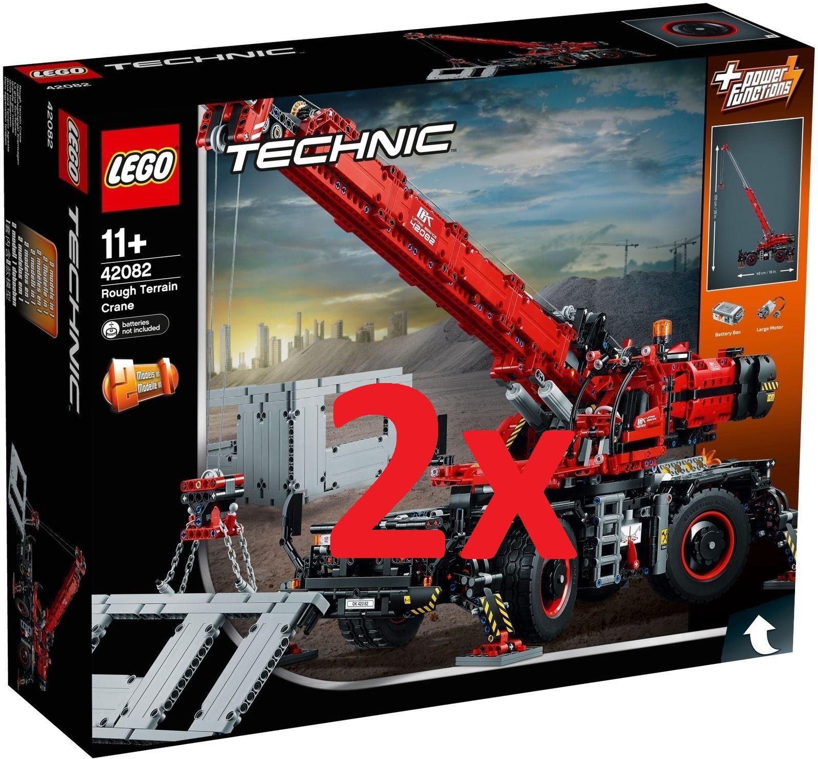 LEGO® 2x 42082  TECHNIC - Rough Terrain Crane - nuovo   FACTORY SEALED  prodotti creativi
