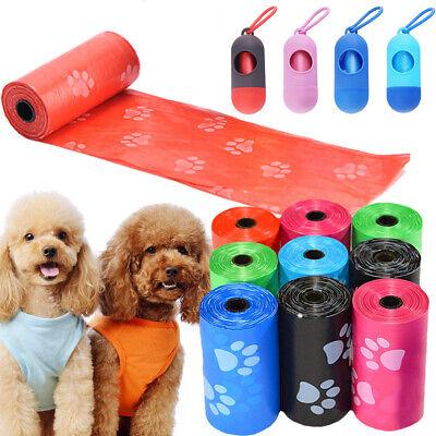 Pet Dog Cat Puppy Garbage Clean up Bags Waste Carrier Holder Dispenser+Poop Bags