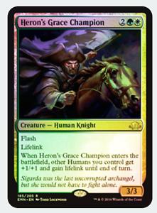 R NM MTG X4: Heron/'s Grace Champion *FOIL* FREE US SHIPPING! Eldritch Moon