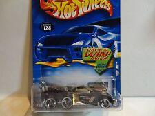 2002 Hot Wheels #128 Black Tow Jam Tow Truck w/3 Spoke Wheels