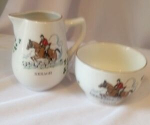 CARRIGALINE-CERAMIC-MILK-JUG-amp-SUGAR-BOWL-CARRIGALINE-POTTTERY-IRELAND