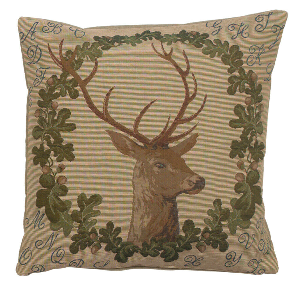 ABC Stag Pillow Cushion Cover 19 x19  Art Home Decor