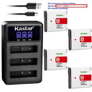 Kastar-Battery-Triple-Charger-for-Sony-NP-BG1-NPBG1-amp-Cyber-shot-DSC-T100-Camera