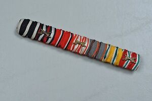 WWI-IMPERIAL-GERMAN-1914-IRON-CROSS-7-PLACE-RIBBON-BAR-DOUBLE-DRAPED