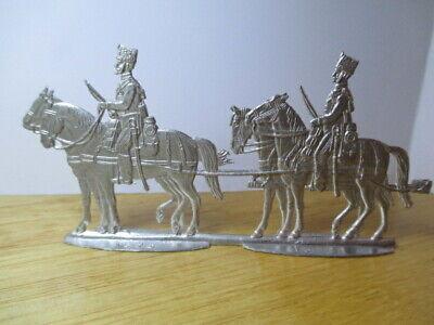 100% Vero Vintage Parte Set 2 Di Franco Prussiana Piatto Di Piombo Soldati Artiglieria Cavallo Francese-
