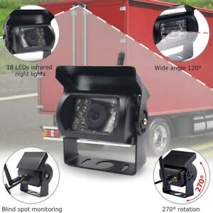 7 inch Wireless Car Monitor 2 Backup Rear View Cameras Kit for Bus Truck RV
