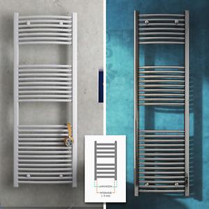 Termoarredo bagno scaldasalviette cromo bianco curvo dritto calorifero radiatore