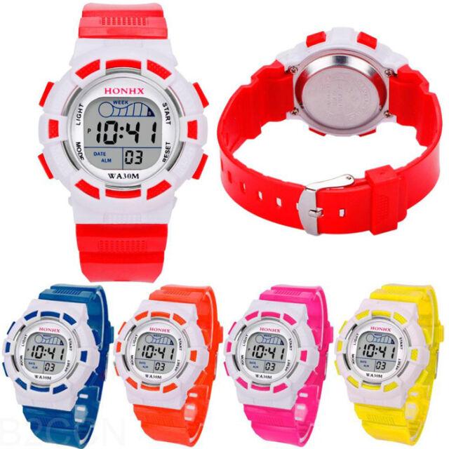 Fashion Child Boys Digital LED Sports Watch Kids Date Girls Alarm Watch Gift