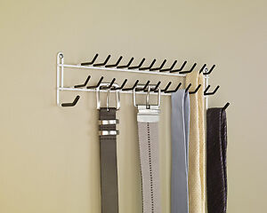 Image Is Loading Tie Belt Hanger Rack Necktie Holder Closet Organizer