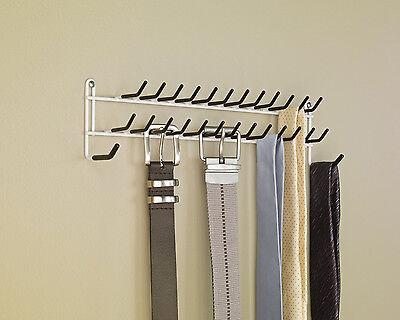 Tie Belt Hanger Rack Necktie Holder Closet Organizer Scarf Shelf