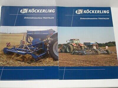 KÖCKERLING TRIATHLON Zinkensämaschinen Prospekte von 2006 und 2009 9357