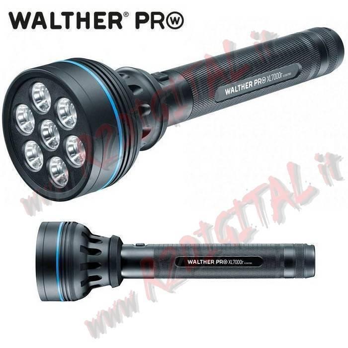 TORCIA LED TATTICA WALTHER WALTHER WALTHER MAXI XL7000R 2200 LUMEN 7 x CREE XP-G2 ANTIRIFLESSO 894f44