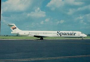 A4876mdt-Transport-Spanair-Airlines-MD83-Aircraft-postcard
