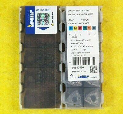 1 Box Original ISCAR! WNMG 080404-TF IC807 10 Pcs Iscar WNMG 431-TF IC807