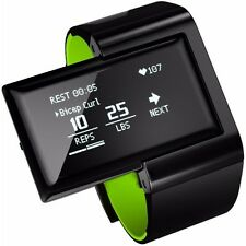 Atlas Wristband 2: Fitness and Activity Digital Trainer + Heart Rate Band -Green