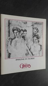 Revista Theatre National Opera París Octubre 1985 Buen Estado