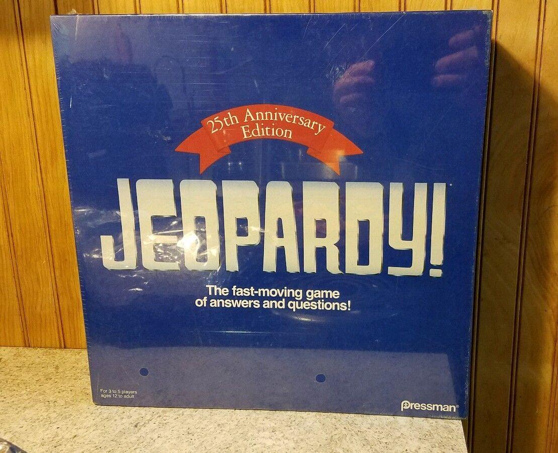 Jeopardy 25. jahrestag auflage 1990 brettspiel - brandneu und versiegelt