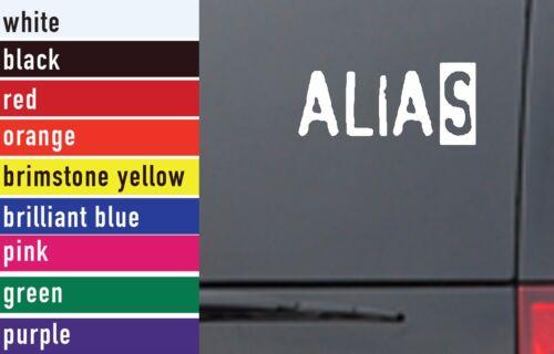 Alias TV Movies Vinyl Sticker Decal Car-Truck Laptop-Netbook 0201