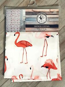 Panama-Jack-Flamingos-Shower-Curtain-NEW-72in-X-72in