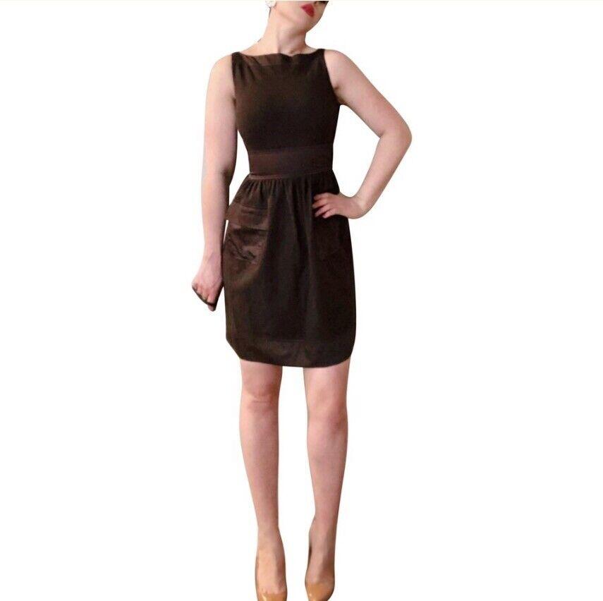 DVF Diane Von Furstenburg Chocolate braun Zanne Ruched W  Pockets Sheath Dress 4