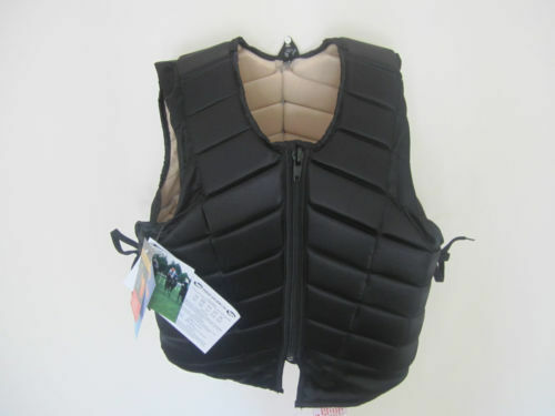 ADULT HORSE RIDING BODY PROTECTOR WITH ADJUSTABLE SIDE LACES SMALL TO XLARGE.W