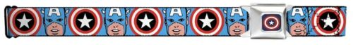Captain America Canvas Buckle-Down Belt Marvel Comics ADJUSTABLE FACE SHIELDS