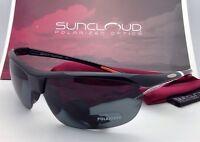 Suncloud Polarized Optics Sunglasses Zephyr Black W/ Grey Lenses
