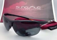 Suncloud Polarized Optics Sunglasses Zephyr Black W/ Grey Lenses