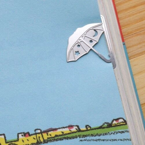mini metal UMBRELLA girl's summer Bookmark silver color for gift korean fashion
