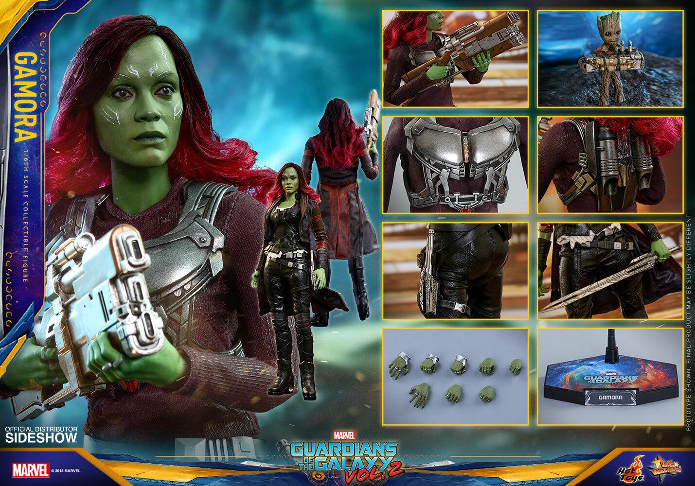 Hot Toys Gamora 1:6 Scale Figure Guardians Of The Galaxy 2 Zoe Saldana Sideshow on eBay thumbnail