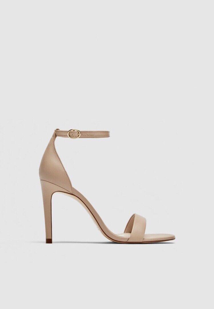 godendo i tuoi acquisti Zara in pelle oro tacco alto sandali sandali sandali taglia 8 41  negozio online