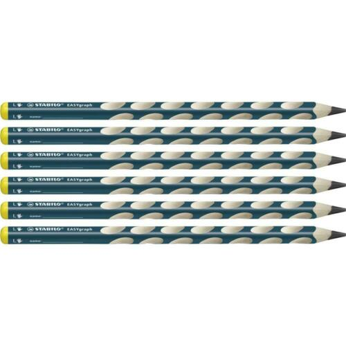 Dreikant-Bleistift Linkshänder STABILO EASYgraph in petrol Härtegrad B 6er Pack