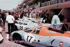 JWA Gulf Porsche 917 K Pit Area Le Mans 1971 Photograph