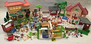 Playmobil-Zoo-Granja-Cascada-Vet-Clinica-paquete-casa-de-vacaciones-4009-4857-5529-5531